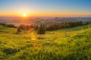 Photo free Hesse, Germany, sunset