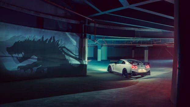 Фото бесплатно Nissan GTR, художник, Nissan