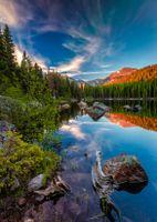Фото бесплатно Медвежье озеро, горы, деревья