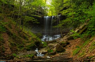 Осенний водопад · бесплатное фото