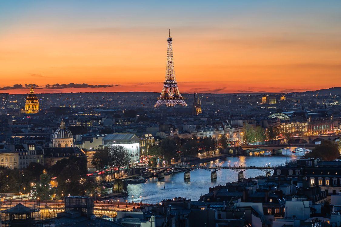 Ночная Франция · бесплатное фото