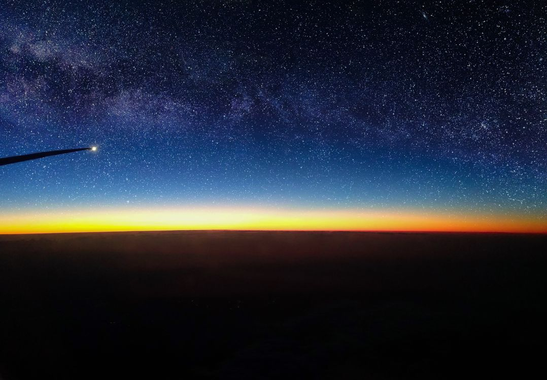 Photo air see the stars sunrise - free pictures on Fonwall