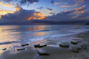 Photo free stones, clouds, beach