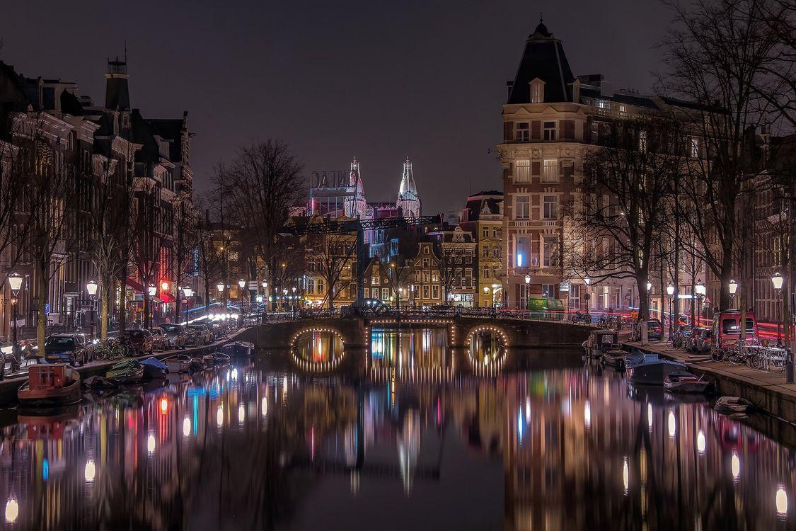 Фото бесплатно Нидерланды, город, освещение - на рабочий стол