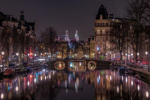 Фото бесплатно Нидерланды, город, освещение