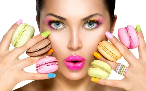 Photo free macaron, girl, makeup