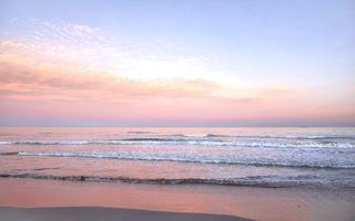 Заставки волны, восход солнца, пляж