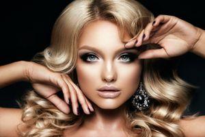 Фото бесплатно макияж, прическа, блондинка