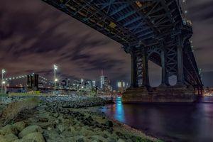 Заставки Нью-Йорк, Манхеттен, Бруклинский мост
