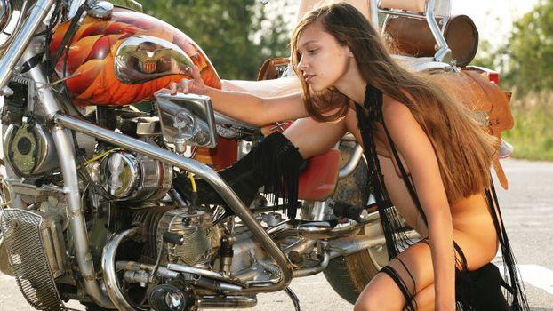Фото бесплатно Фрейя А, байк, мотоцикл