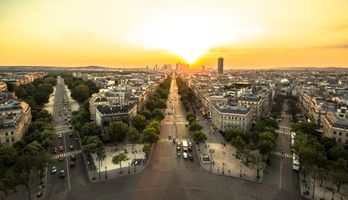 Photo free Paris, dawn, France