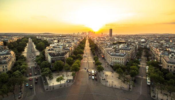 Photo free Paris, dawn, France
