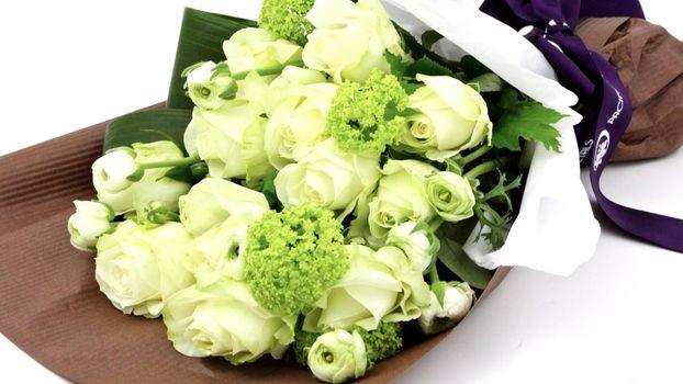 Бесплатные фото лента,букет,розы