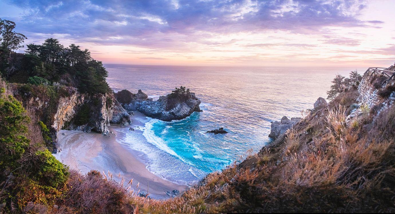 Обои McWay Cove, пейзаж, берег картинки на телефон