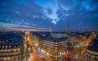 Бесплатные фото Париж,Франция,Paris,город,ночь,иллюминация,Эйфелева башня