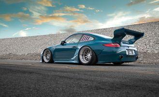 Фото бесплатно Porsche 911, большой спойлер, большие диски