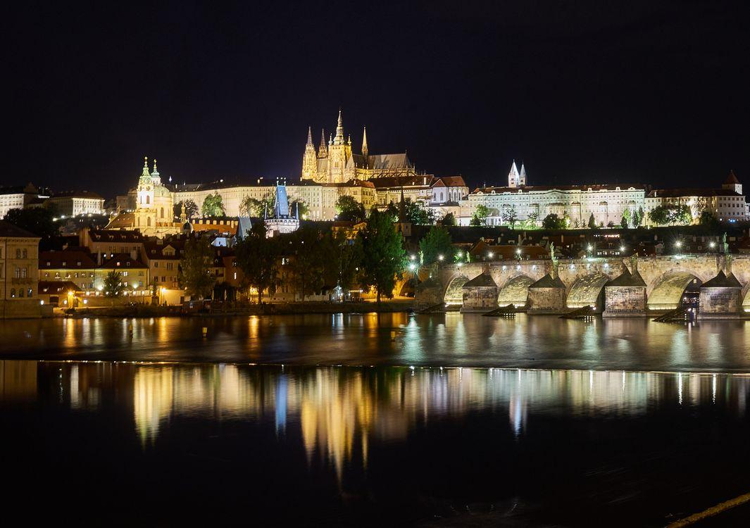Ночная Прага · бесплатное фото
