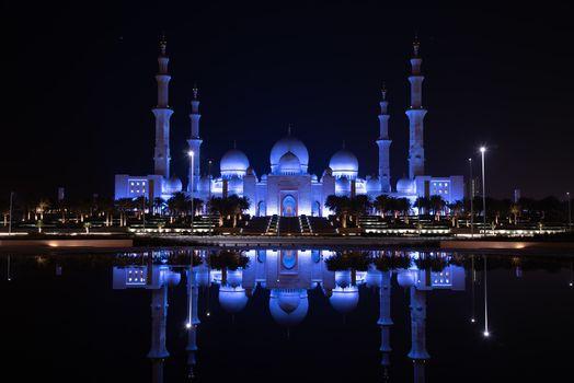 Фото бесплатно Даби, Большая Мечеть Шейха Зайда - Абу-Даби, ночь