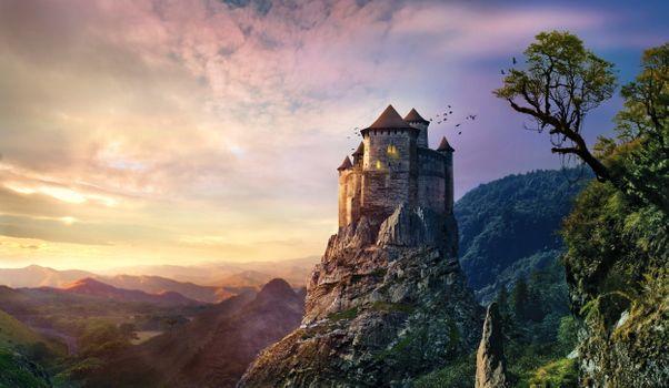 Средневековая романтика · бесплатное фото