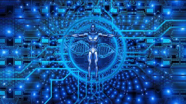 Фото бесплатно киборг, доска, днк, проводников, технологии, биология, эволюция, биотехнология, виртуальный, цифровой, оцифровка, вперед