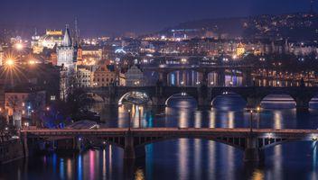 Фото бесплатно ночь, Пражский Град, ночной город