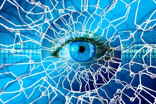 Photo free eye network, detail, macro