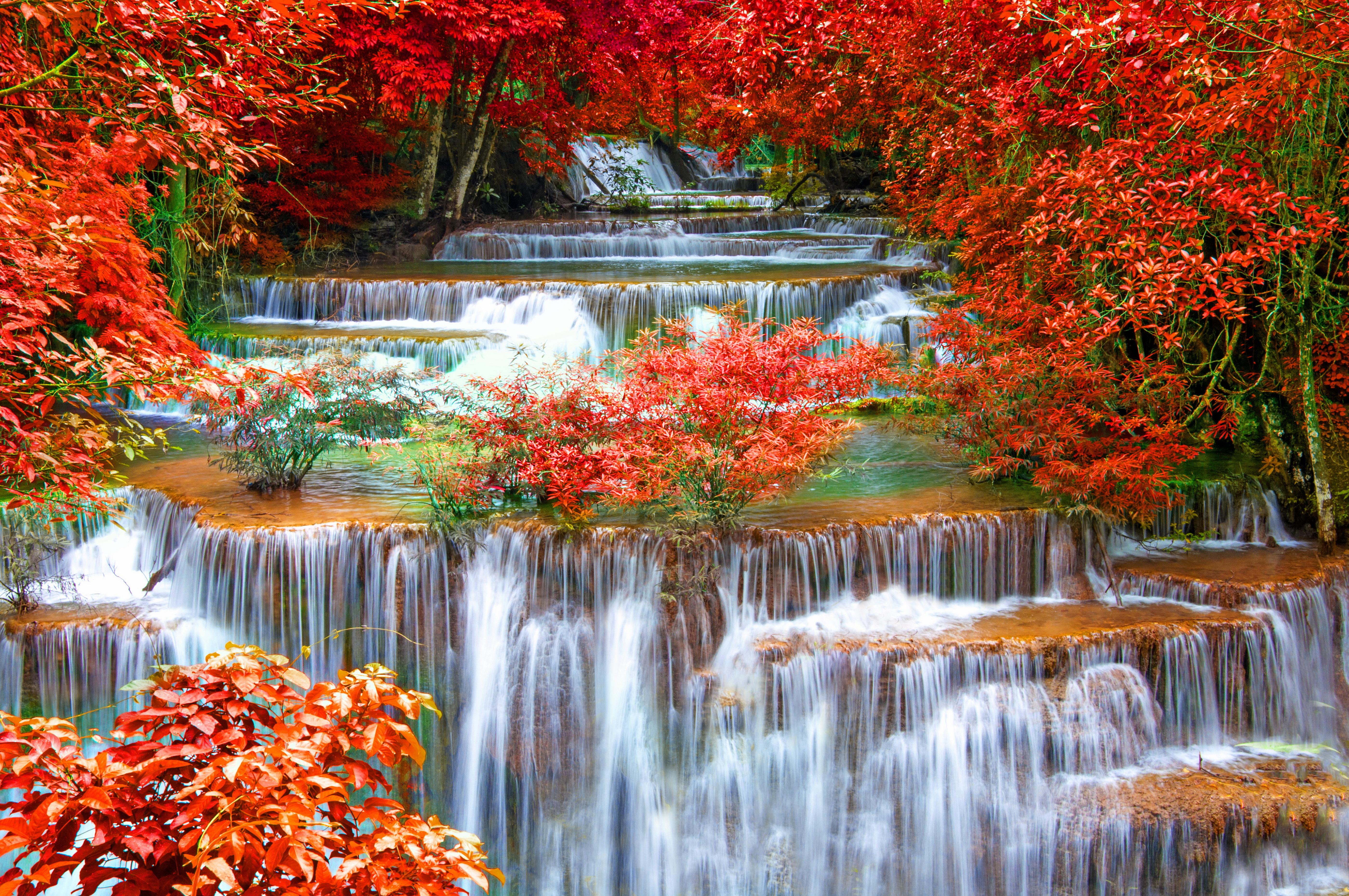 Free Photo Thailand Seasons Autumn Waterfalls Waterfalls