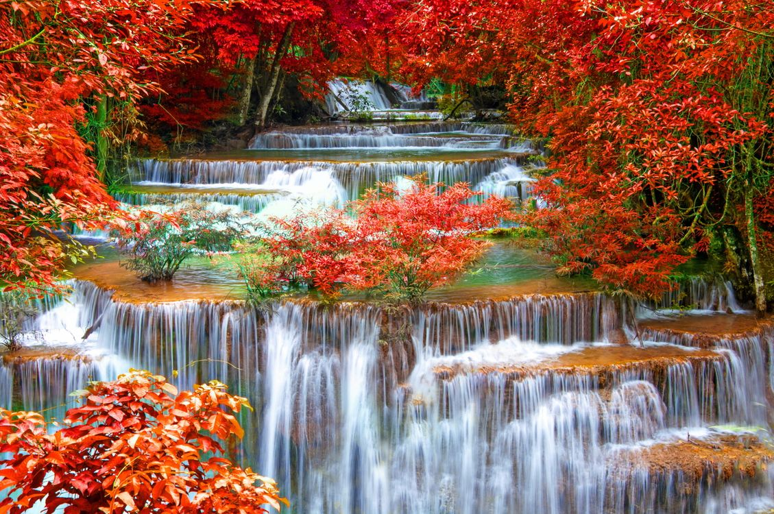 Фото бесплатно Thailand Seasons, Autumn Waterfalls, Waterfalls Kanchanaburi - на рабочий стол