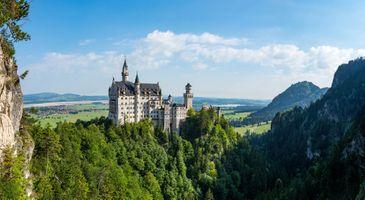 Фото бесплатно Хоэншвангау, Германия, Нойшванштайн