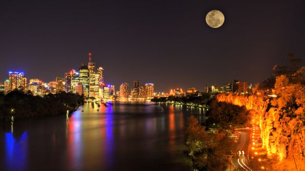 Photo free Australia, city, lights