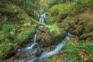 Фото бесплатно река, водопад, Каскад Шарлемань