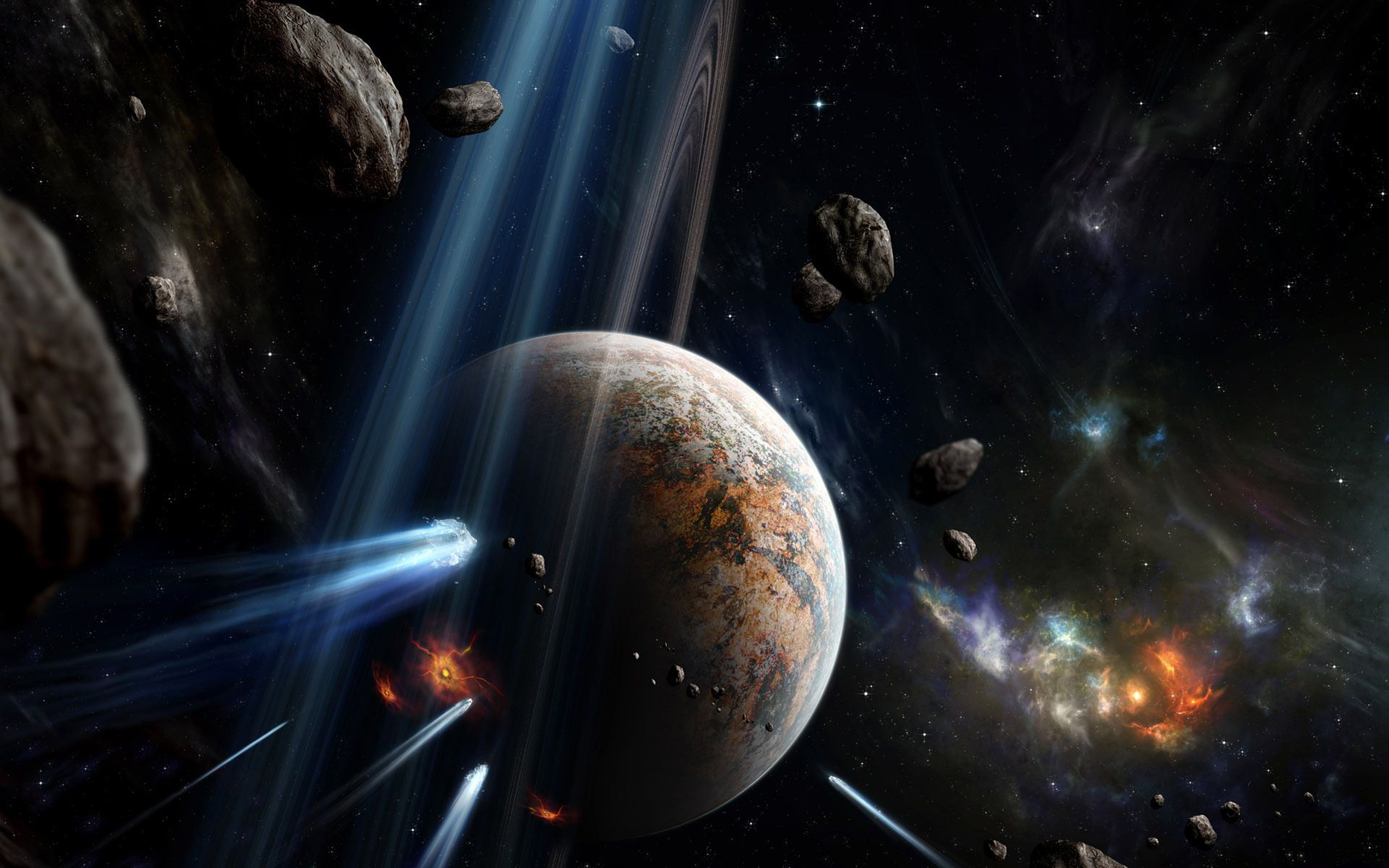 asteroid planet game - HD 1920×1200