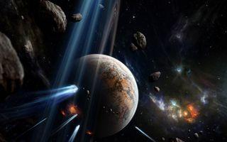 Заставки астероид, селена, пространство