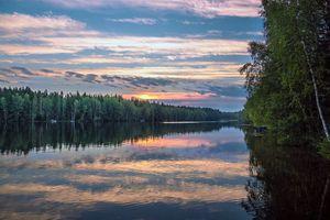 Небесное отражение на озере