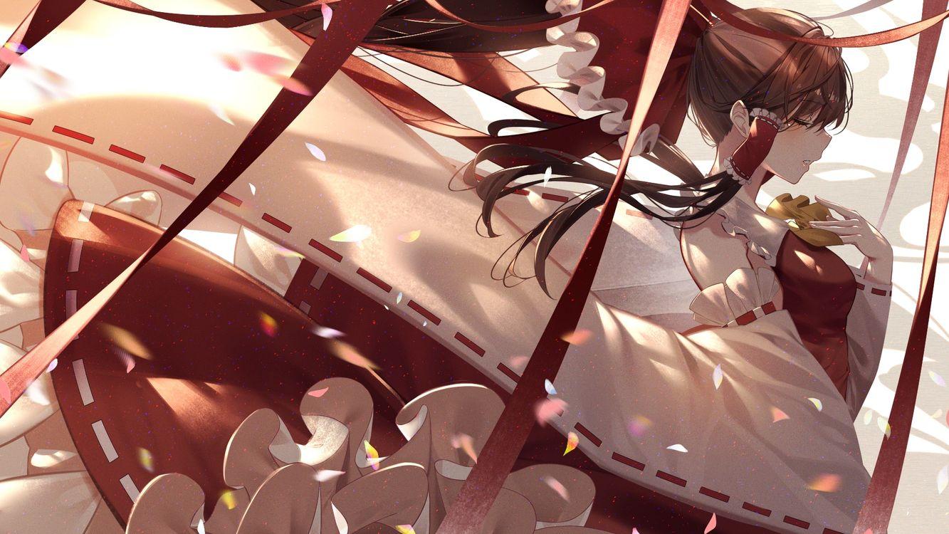 Фото бесплатно Хакурей Рейм, Touhou, коричневые волосы - на рабочий стол