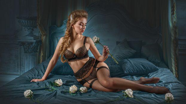 Фото бесплатно красотка Рита, нижнее бельё, сексуальная