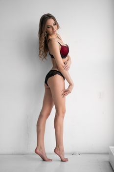 Photo free lingerie, red legs, young