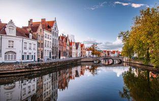 Фото бесплатно Бельгия, мост, Брюгге
