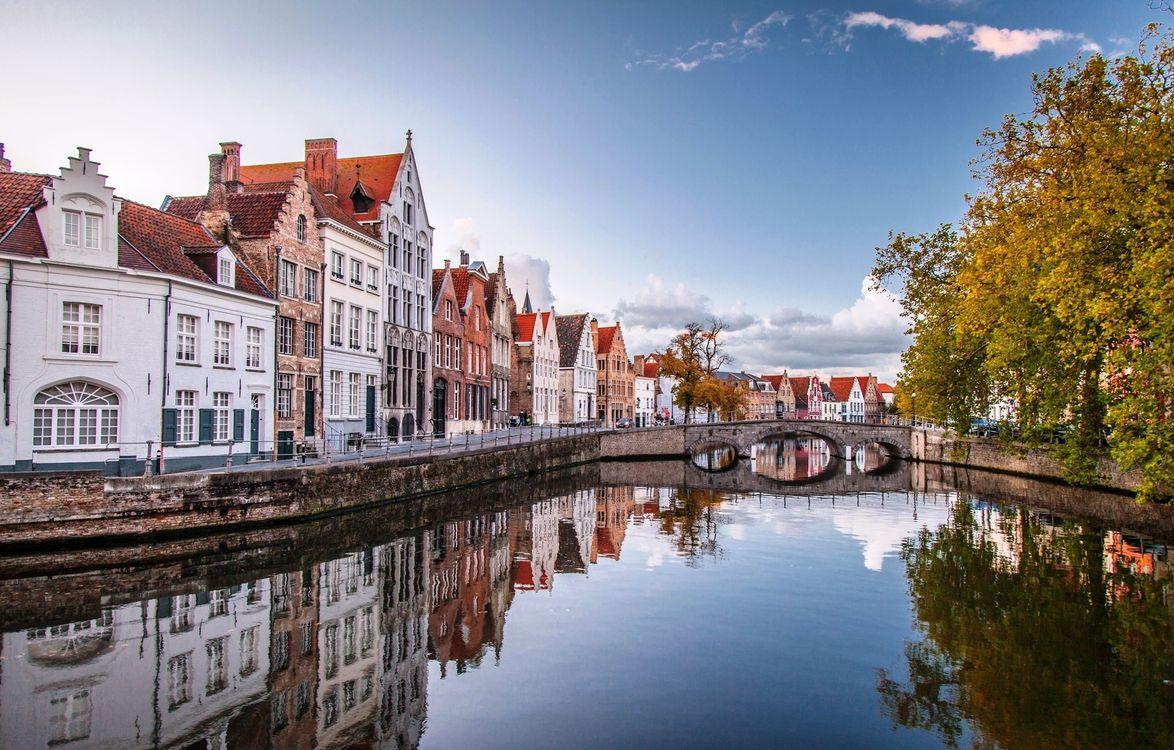 Фото бесплатно Бельгия, мост, Брюгге - на рабочий стол