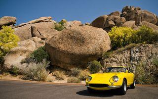 Бесплатные фото автомобиль,Феррари 275 GTS,желтые автомобили,рок