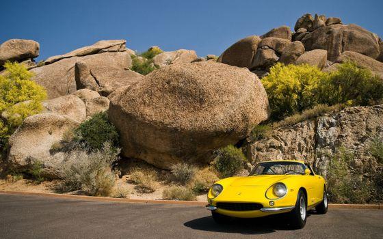 Фото бесплатно автомобиль, Феррари 275 GTS, желтые автомобили