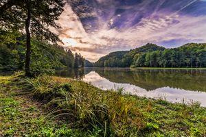 Фото бесплатно Тракоскан, деревья, закат