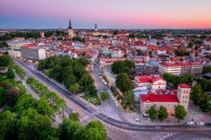 Заставки Tallinn Old Town, Estonia, закат