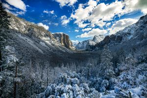 Winter gorge in California