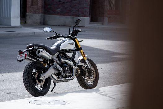 Photo free Ducati Scrambler 1100 motorcycle, silver, black
