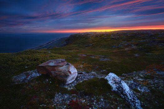 Рассвет на полуострове Средний · бесплатное фото