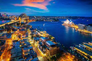 Фото бесплатно ночные города, Sydney city, New south wales