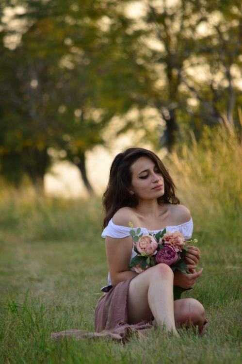 Фото бесплатно Девушка, природа, лес, фотографии, цветы, закат, женщины, девушки