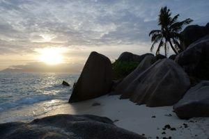Заставки природа, сейшельские острова закат, пейзаж