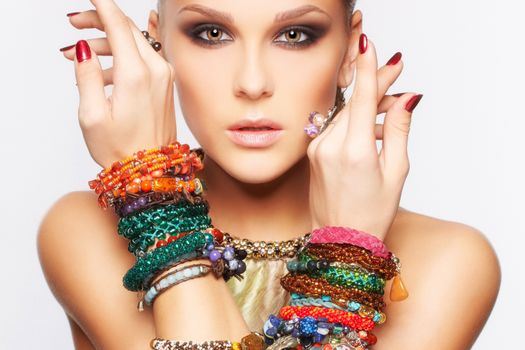 Photo free decoration, bracelets, makeup